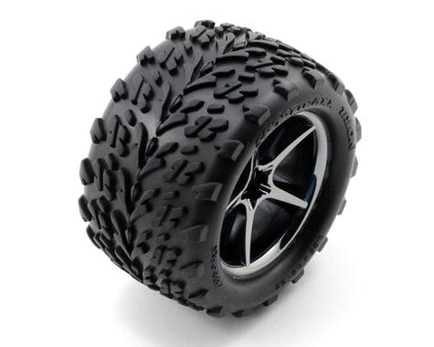 Traxxas Pre-Mounted Talon Tires w/Gemini Wheels (Black Chrome) (2)