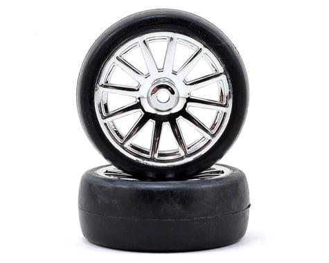 Traxxas LaTrax Pre-Mounted Slick Tires & 12-Spoke Wheels (Chrome) (2)