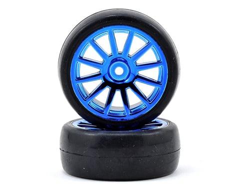 Traxxas LaTrax Pre-Mounted Slick Tires & 12-Spoke Wheels (Blue Chrome) (2)