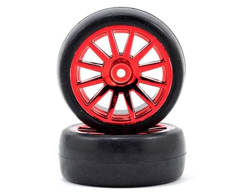 Traxxas LaTrax Pre-Mounted Slick Tires & 12-Spoke Wheels (Red Chrome) (2)