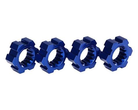Traxxas X-Maxx Aluminum Wheel Hex Hub (Blue) (4)