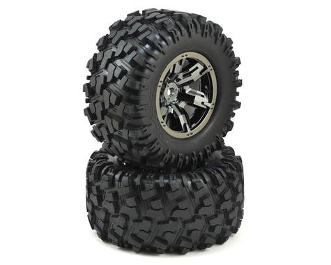 Traxxas X-Maxx Pre-Mounted Tires & Wheels (Black Chrome) (2)
