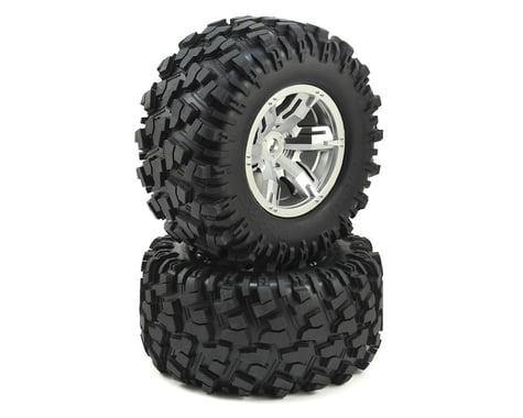 Traxxas X-Maxx Pre-Mounted Tires & Wheels (Satin Chrome) (2)