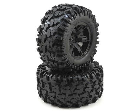 Traxxas X-Maxx Pre-Mounted Tires & Wheels (Black) (2) (8S Rated)