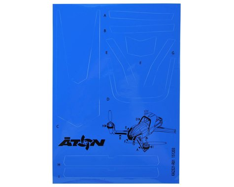Traxxas Aton High Visibility Decals (Blue)
