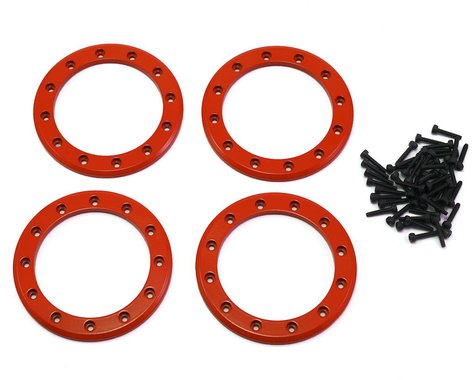 """Traxxas Aluminum 2.2"""" Beadlock Rings Red with 2x10 CS TRA8168R"""