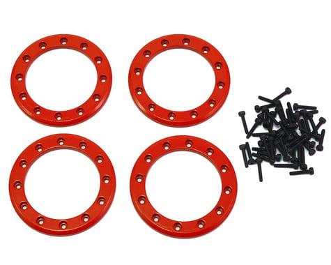 "Traxxas Aluminum 1.9"" Beadlock Rings (Red) (4)"