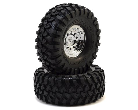 "Traxxas TRX-4 Pre-Mounted Canyon Trail 1.9"" Crawler Tires w/Chrome Wheels"