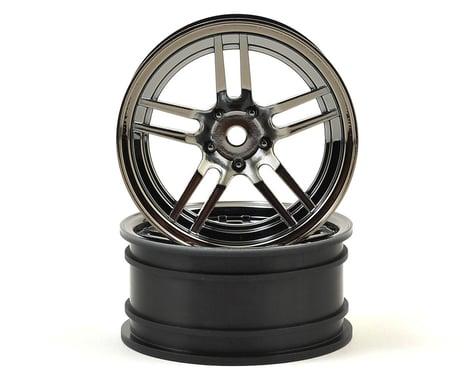 Traxxas Front Split Spoke 1.9 Black Chrome Wheels (2) TRA8371