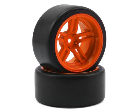 "Traxxas 4-Tec 2.0 1.9"" Rear Pre-Mounted Drift Tires (Orange)"