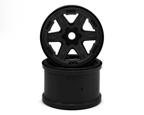 "Traxxas 17mm Splined Hex 3.8"" Monster Truck Wheels (Black) (2)"
