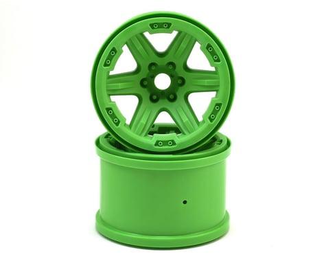 "Traxxas 17mm Splined Hex 3.8"" Monster Truck Wheels (Green) (2)"