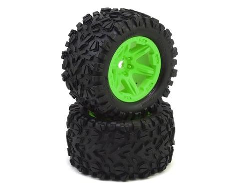 "Traxxas Talon EXT Tires 3.8"" Pre-Mounted Monster Truck Tires (2) (Green)"