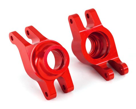Traxxas Maxx Aluminum Hub Carriers (Red)
