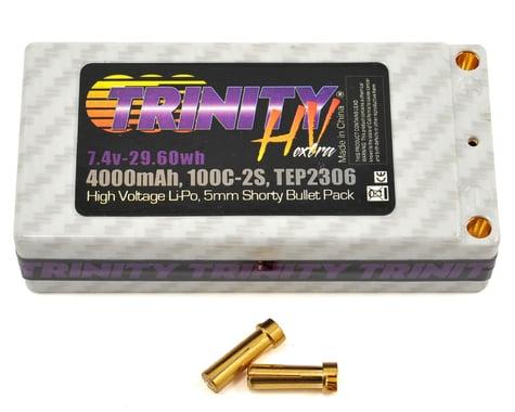 Trinity Hi-Voltage Shorty 2S 100C Hardcase LiPo Battery (7.4V/4000mAh)
