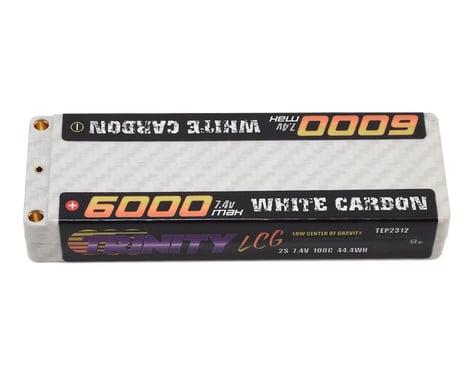Trinity White Carbon LCG 2S 100C Hardcase LiPo Battery (7.4V/6000mAh)