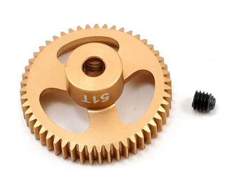 Trinity 64P Featherweight Hard Anodized Aluminum Pinion Gear (51T)