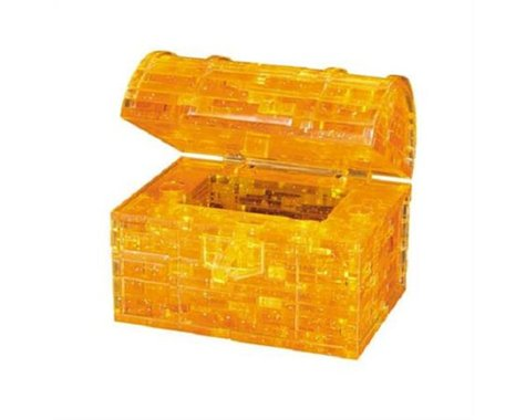 University Games Corp Bepuzzled 30931 3D Crystal Puzzle - Treasure Chest