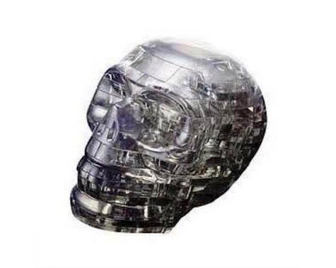 University Games Corp Bepuzzled 30932 3D Crystal Puzzle - Black Skull