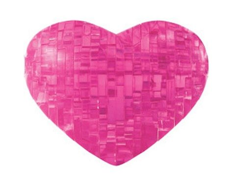 University Games Corp Bepuzzled 30937 3D Crystal Puzzle - Pink Heart