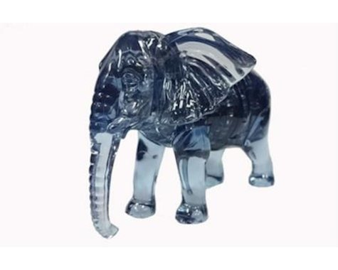 University Games Corp Bepuzzled 30978 3D Crystal Puzzle - Elephant: 40 Pcs