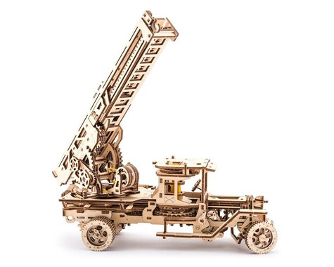 UGears Fire Truck with Ladder Wooden 3D Model