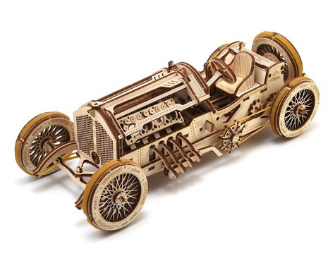 UGears U-9 Grand Prix Car Wooden 3D Model