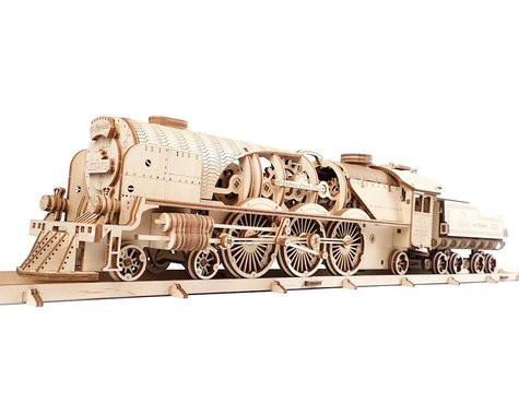 UGears V-Express Steam Train & Tender Wooden 3D Model