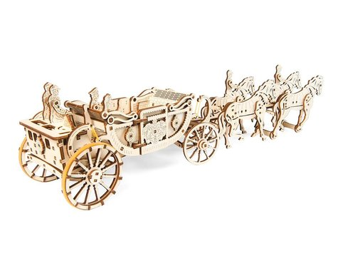 UGears Royal Carriage Limited Edition Wooden 3D Model