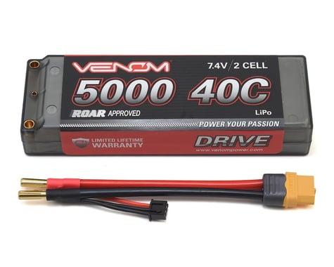 Venom Power 2S 40C Hard Case LiPo Battery w/UNI 2.0 Connector (7.4V/5000mAh)