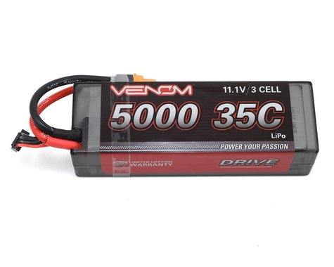Venom Power 3S 35C Hard Case LiPo Battery w/UNI 2.0 Connector (11.1V/5000mAh)