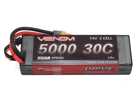 Venom Power 2S 30C Hard Case LiPo Battery w/UNI 2.0 Connector (7.4V/5000mAh)