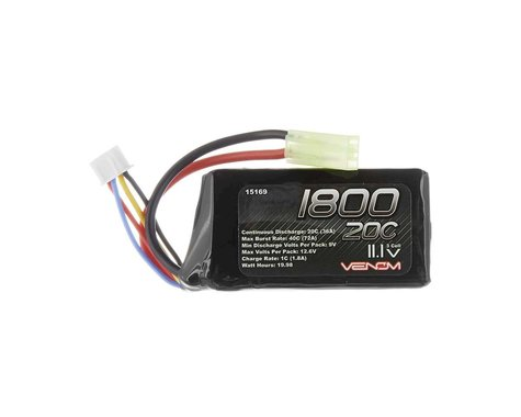 Venom Power LiPo 3S 11.1V 1800mAh 20C Mini Tamiya