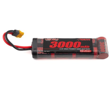 Venom Power 7 Cell NiMH Flat Battery w/Universal Connector (8.4V/3000mAh)