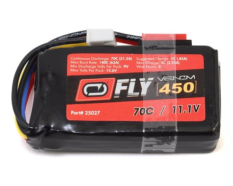 Venom Power Fly 3S 70C LiPo Battery (11.1V/450mAh)