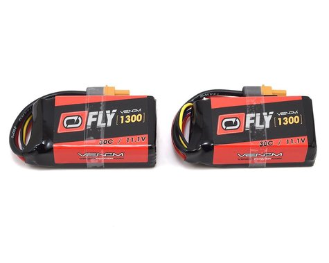 Venom Power 3S 30C LiPo Battery w/Uni 2.0 Connectors (11.1V/1300mAh) (Two Pack)