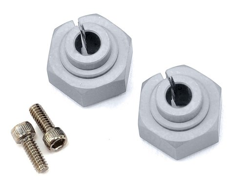 Vanquish Products Aluminum 12mm Clamping Wheel Hex (2) (Silver)