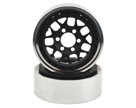 Vanquish Products KMC XD127 Bully 1.9 Beadlock Crawler Wheels (Black) (2)