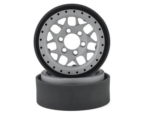 Vanquish Products KMC XD127 Bully 1.9 Beadlock Crawler Wheels (Silver) (2)