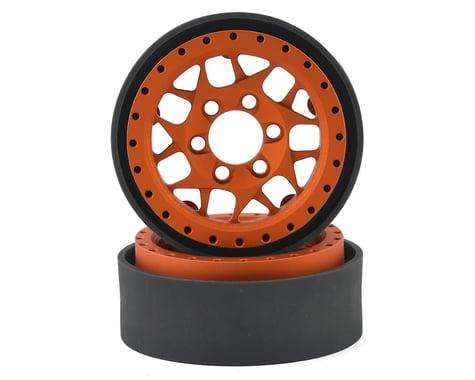 Vanquish Products KMC XD127 Bully 1.9 Beadlock Crawler Wheels (Orange) (2)