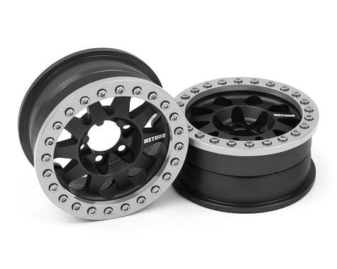 Vanquish Products Method 101 V2 1.9 Beadlock Crawler Wheels (Black/Silver) (2)