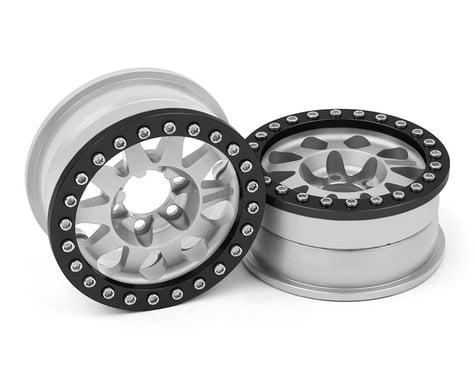 Vanquish Products Method 101 V2 1.9 Beadlock Crawler Wheels (Silver/Black) (2)
