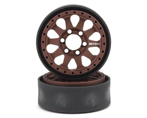 Vanquish Products Method 101 V2 1.9 Beadlock Crawler Wheels (Bronze/Black) (2)