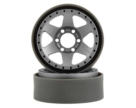 Vanquish Products Method MR310 1.9 Beadlock Crawler Wheels (Silver/Black) (2)