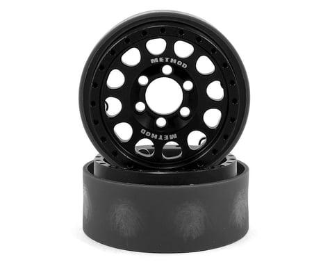 Vanquish Products Method 105 1.9 Beadlock Crawler Wheels (Black/Silver) (2)