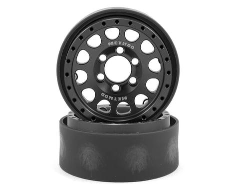 Vanquish Products Method 105 1.9 Beadlock Crawler Wheels (Grey/Black) (2)