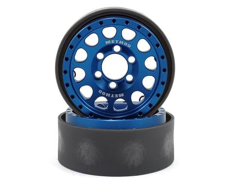 Vanquish Products Method 105 1.9 Beadlock Crawler Wheels (Blue/Black) (2)