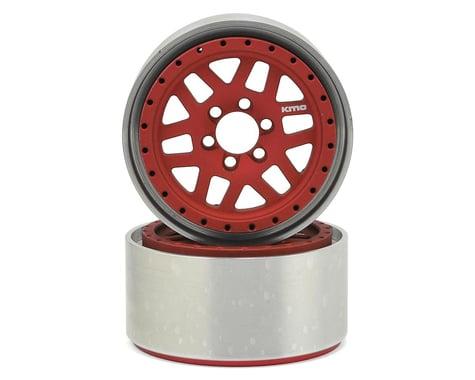 Vanquish Products KMC XD229 Machete 2.2 Beadlock Wheels (2) (Red/Black)