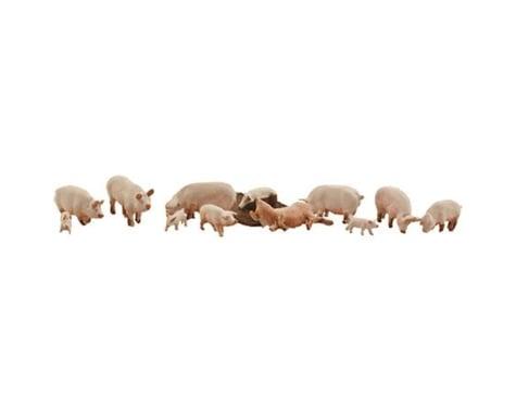 Woodland Scenics HO Yorkshire Pigs