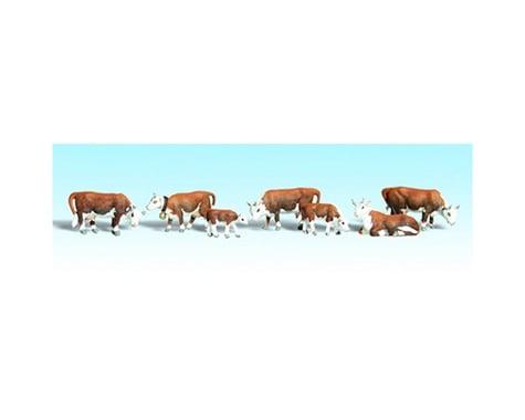 Woodland Scenics N Hereford Cows